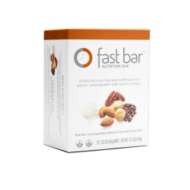 Fast Bars Nuts & Nibs| 10-Pack - Single Box